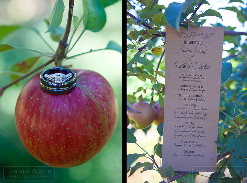 Minnesota Harvest Apple Orchard Wedding